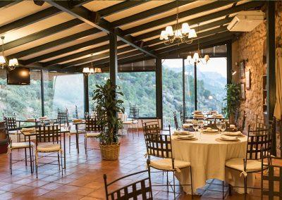 Hotel la Calerilla, Cazorla, vistas desde el Restaurante